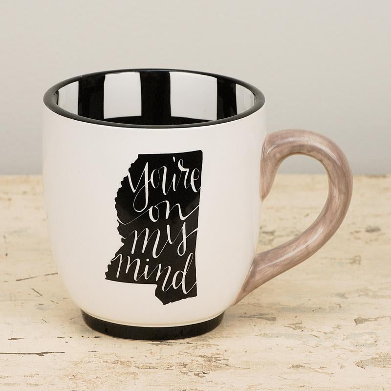 Mississippi You're On My Mind Mug