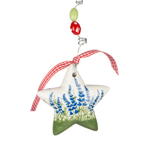 Blue Bonnet Star Puff Ornament