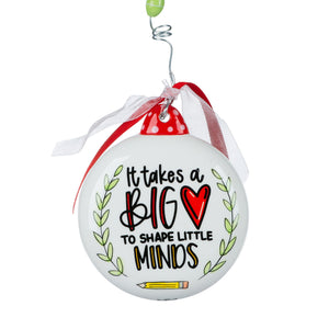 Big Heart Little Minds Puff Ornament