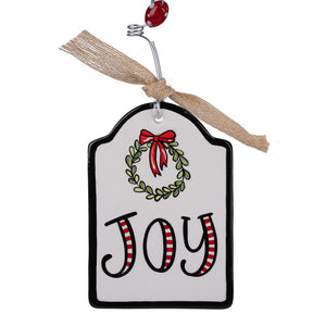 Joy Flat Ornament