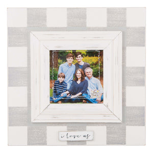 I Love Us Plaid Frame