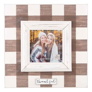 Thankful Plaid Frame