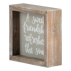 Sweet Friendship Framed Board