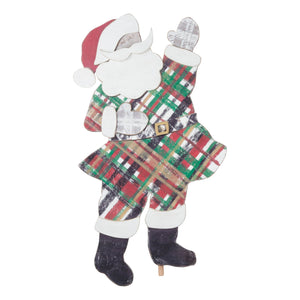 Plaid Santa Topper