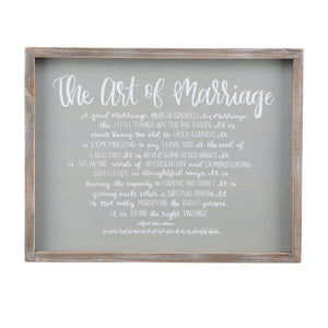 The Art of Marriage Small Framed Board