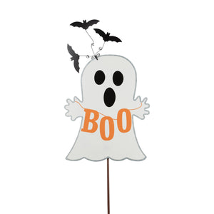 Boo Ghost and Bats Garden Stake