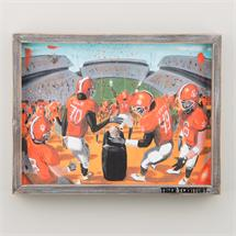 Clemson Down The Hill Framed Canvas