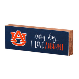 Every Day I Love Auburn Block Canvas