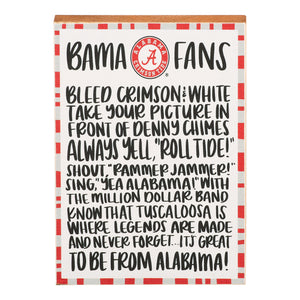 Alabama fan block canvas