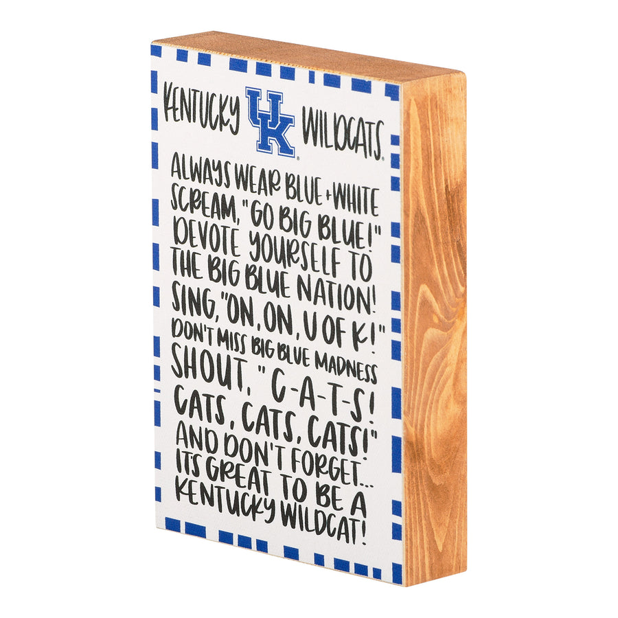 Kentucky fan block canvas