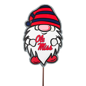 Ole Miss Gnome Garden Stake