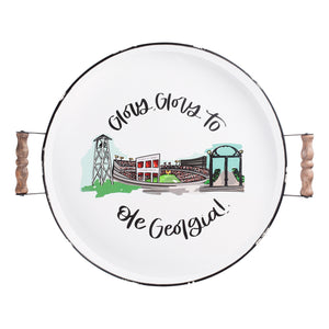 Georgia Landmark Enamel Tray