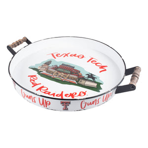 Texas Tech Landmark Enamel Tray