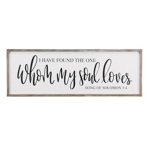 My Soul Loves Framed Board