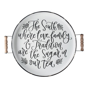 South Family Tradition Enamel Tray