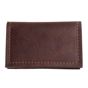 Slim Fold Card Carrier in Chocolate Brown