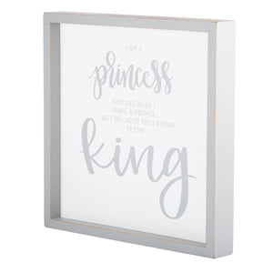 Princess and Father Framed Board