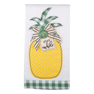 Stay Awhile Pineapple Tea Towel