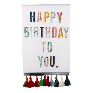 Happy Birthday to You Tea Towel