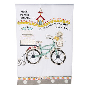 Going to the Chapel Bike Tea Towel