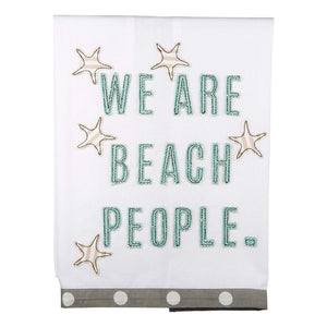 Beach People Tea Towel