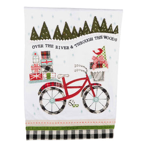 Over the River Christmas Bike Towel