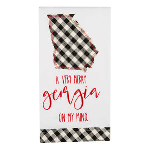 Georgia Very Merry Christmas Tea Towel