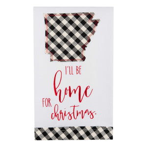 I'll Be Home Arkansas Christmas Tea Towel