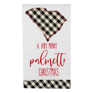 Palmetto Christmas South Carolina Tea Towel