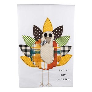 Let's Get Stuffed Turkey Tea Towel