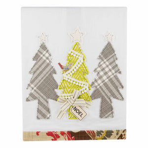 Noel Christmas Trees Tea Towel