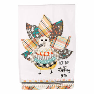 Let the Stuffing Begin Turkey Tea Towel