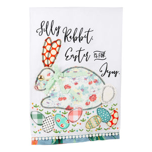 Easter is For Jesus Rabbit Tea Towel