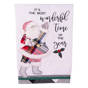 Most Wonderful Time Santa Tea Towel