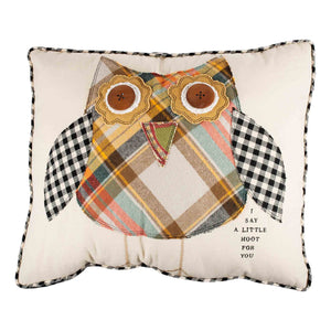 I Say a Little Hoot For You Owl Large Pillow
