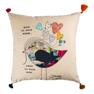 Wind to your Wings pillow