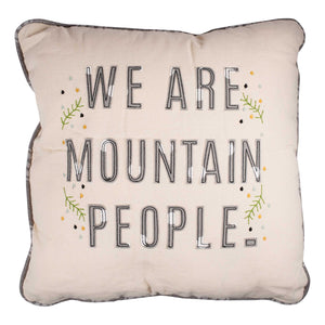 Mountain People Pillow