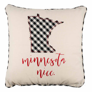 Minnesota Nice Christmas Pillow