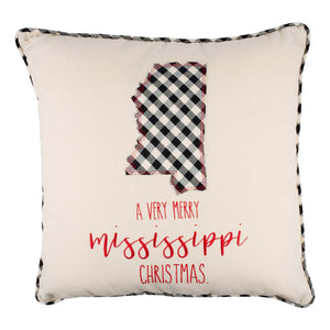 Mississippi Merry Christmas Pillow