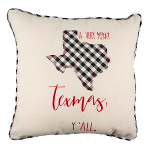 Merry Texmas Y'all Christmas Pillow