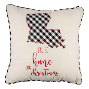 I'll Be Home Christmas Louisiana Pillow