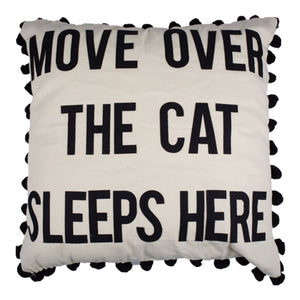 Move Over The Cat Sleeps Here Pillow