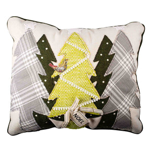 Noel Christmas Trees Pillow