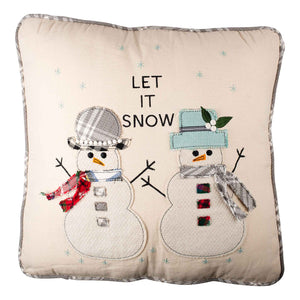 Snowman Let It Snow Pillow