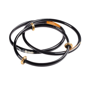 Black Horn Bangle Set