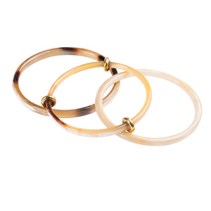 Brown Horn Bangle Set