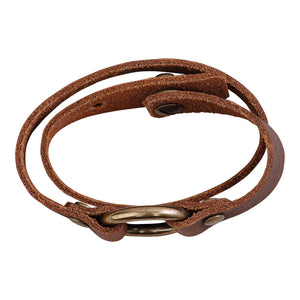 Double Wrap Leather Bracelet (Handmade)