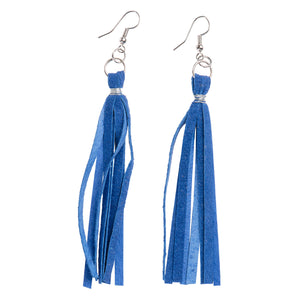 Cobalt Tassel Earrings
