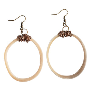 Simple Circle Horn Hoop Earring