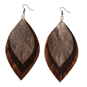 Metallic Leather Earring